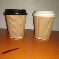 Paper cup 8oz hot cover+lid/Double wall cover/gelas kertas 8 oz+tutup