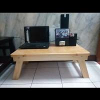 Harga ready stock meja lipat laptop lesehan kayu jati   antitipu.com