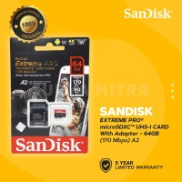 Sandisk MicroSD / Micro SD 64Gb U3 V30 EXTREME PRO 170 MB/s