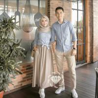 Cp Classic Moscrepe/Couple Simple/Baju Muslim Pasangan/Cp Kemeja
