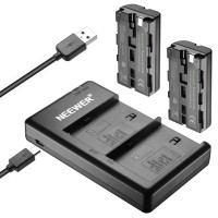 Neewer 2pcs NP-F550 Battery & Charger Set for Sony NP F970 F750 F550