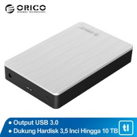 "Orico 3.5"" SATA USB3.0 HDD Case High Speed Aluminium Chasis / MD35U3"