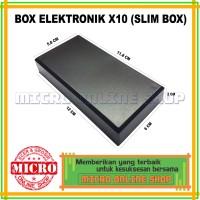 Harga slim box type x10 box elektronik x10 box plastik hitam | antitipu.com