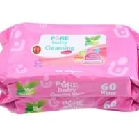 2pack PUREBABY Cleansing Wipes 60s | Tissue Basah Bayi