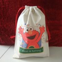 Tas Pouch Totebag Backpack Ransel Souvenir - Elmo Sesame Street