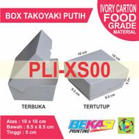 Dus Takoyaki IVORY Paper Box Polos uk. 10 x 10 x 5 cm