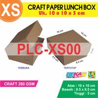 PLC-XS00 - Craft Paper Lunch Box Polos uk. XS - 10 x 10 x 5 cm