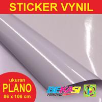 Sticker Vynil White / Stiker Plastik Putih Ukuran Plano 86 x 106 cm