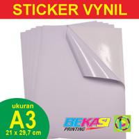 Sticker Vynil White / Stiker Plastik Putih Ukuran A3 29,7 x 42 cm