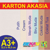 Kertas Karton Akasia 210 GSM - A3+ (32,5 x 48,5 cm)