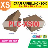 Dus Takoyaki Brown Paper Box Kraft Liner Polos uk. 10 x 10 x 5 cm