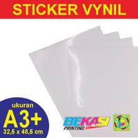 Sticker Vynil White / Stiker Plastik Putih Ukuran A3+ 32,5 x 48,5 cm