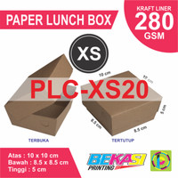PLC-XS20 - Craft Paper Lunch Box Kraft uk. XS + CETAK 2 WARNA