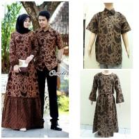 Couple Gamis Batik Zara Set anak Baju Batik Couple Keluarga