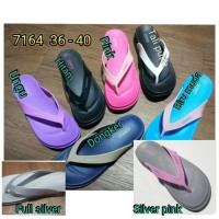 jelly sandal luofu wanita jepit karet sendal japit import 7164