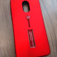 Pocophone F1 Silicone Ring Stand Luxury Soft TPU Armor Case Shockproof