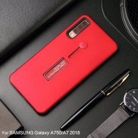 Samsung A9 2018 Silicone Ring Stand Luxury Soft Gel Capa Armor Case