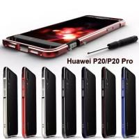 Huawei P20 bumper list metal aluminium case cover list rim pinggir