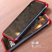 LUPHIE bumper Case IPHONE XS metal aluminium back tempered glass cover
