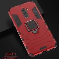 Xiaomi Mi Mix 2 Black Panther Slim Rugged Stand Ring Armor Case