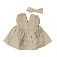 Mosfit Klasika Cream Dress Anak Perempuan