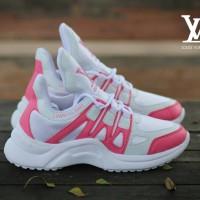 Sepatu LV Archlight 2 Putih Rosy Sneakers Wanita Casual Sport Import