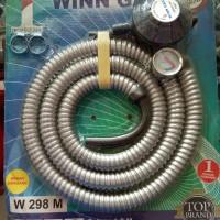 Winn gas selang paket Regulator W-298 M promo