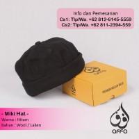 Miki Hat Peci Brimless Caps Miki Mickey Beanie Hijrah Warna Hitam