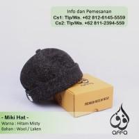 Miki Hat Peci Brimless Caps Miki Mickey Beanie Warna Hitam Misty