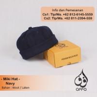 Mikihat Peci / Brimless Caps / Miki Hat / Beanie Hat Premium Biru Navy