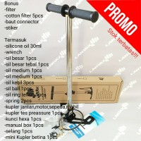 hand, pump, pompa, pcp, paint ball,airsoft, filter dalam, stainless
