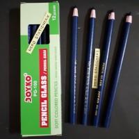 Pensil kaca dermatograph (pencil glass) joyko PG-100 (biru)