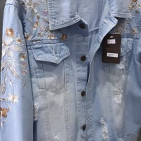 Harga heidi jacket jeans ripped sobek robek photo produk asli jaket | antitipu.com