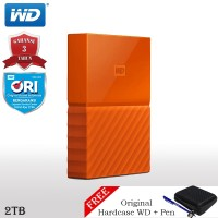 WD My Passport New Design Hardisk Eksternal 2TB + Pen + Hardcase WD