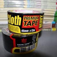 "Lakban KAIN HITAM NACHI 2"" inch 46 mm x 12 m Self Cloth Adhesive Tape"