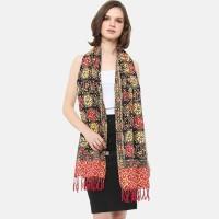 Anakara Syal Batik Wanita- Dobby Shawl Oriental Kuroy- Hitam