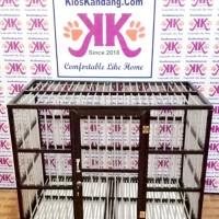 Kandang Kucing Alumunium Tipe KKC-05(Cocok untuk Anjing) (100X60X75cm)