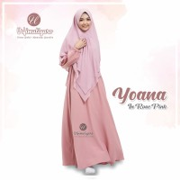 YOANA DRESS ROSE PINK M URFIMUTIYARO DRESS ONLY GAMIS POLOS pink soft