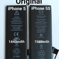 BATERAI BATERE BATTERY BATRE IPHONE 5G/5S/5C ORIGINAL 100 BERKUALITAS