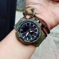 Jam Tangan Digitec Tali Rubber HIjau Army Sporty Tahan Air 10 bar