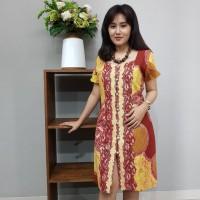Dress Batik Katun Cirebon (BAAD1211) Brand Batik Muda