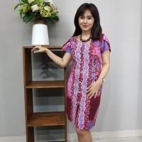 Dress Batik Katun Cirebon - Kode BAAD1211 Brand Batik Muda