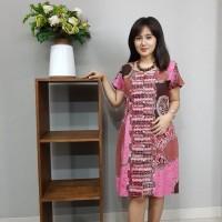 Dress Batik Katun Cirebon Uk XL Brand Batik Muda - BAAD12114