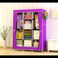 Harga 028cx lemari pakaian ukuran besar rak jumbo bahan oxford violet | antitipu.com