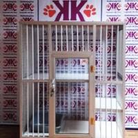 Kandang Kucing Alumunium Tipe KKC-02M Silver (2 Lantai Minimalis)