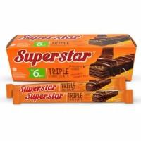 Superstar Triple Chocolate snack makanan ringan harga murah
