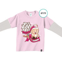 Kaos Anak AF179 Use Right Hand Please by Afra Kids Size S