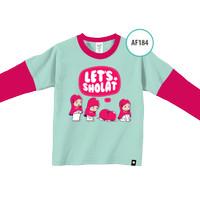 Kaos Anak AF184 Let's Shalat by Afra Kids Size M