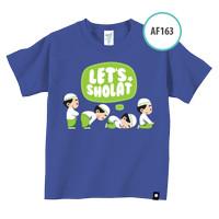 Kaos Anak AF163 Let's Shalat by Afra Kids Size XL