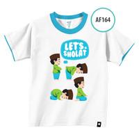 Kaos Anak AF164 Let's Shalat by Afra Kids Size XL